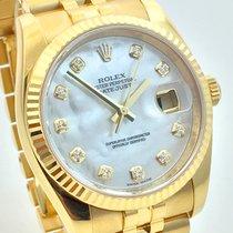 Ρολεξ (Rolex) Datejust 36mm Gelbgold 18K MOP Perlmutt Dia...