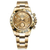 Rolex DAYTONA 18K Yellow Gold Champagne Diamond Dial
