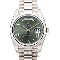 ロレックス (Rolex) Day-Date Green 18k White Gold 40mm President -...
