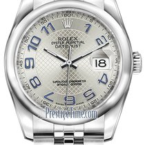 Rolex Datejust 36mm Stainless Steel 116200 Silver Decorated...