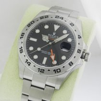 Rolex Explorer II 216570 NEW MODEL 42mm Stainless Steel BLACK...
