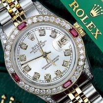 Rolex Authentic Rolex 36mm Silver Datejust Twotone 18k /...