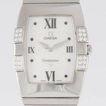 Omega Constellation Quadrella Diamonds MOP Dial