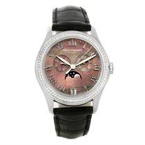 Patek Philippe Annual Calendar White Gold Mop Diamond Watch 4936g