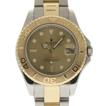 Rolex Yacht-Master 35mm 168623 Yellow Gold Steel Champagne...