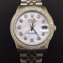 Rolex Datejust 31mm Steel Jubilee Custom Diamond Bezel &...
