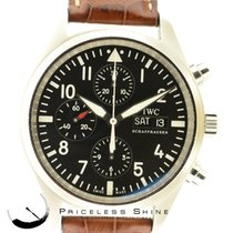 IWC Pilot Chronograph 3717 Automatic Day & Date Steel 42mm...