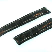 Breitling Tradema Band 18mm Croco Dunkel Blau Strap Für...