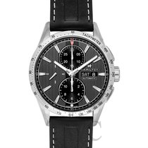 Hamilton Broadway Auto Chrono Black Steel/Leather 43mm -...