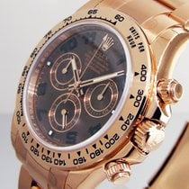 Rolex Daytona 116505 Pink Everose Gold Chocolate Brown Dial...