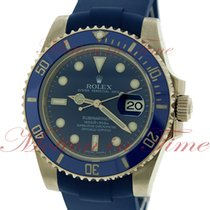 Rolex Submariner, Blue Dial, Blue Ceramic Bezel - White Gold...