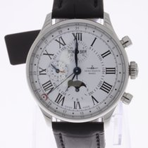 Zeno-Watch Basel Godat Chronograph Full Calendar Moonphase NEW