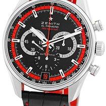 """Zenith """"El Primero Red 36,000 VpH"""" Strapwatch."""