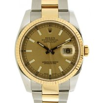 Rolex Datejust 36mm 116233 In Steel And Yellow Gold