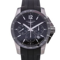Longines Conquest 41 Automatic Chronograph Rubber