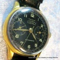 Omega Ultra RARE Omega Patria Chronograph Black Dial Museum Pce
