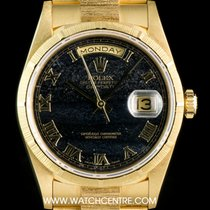 Rolex 18k Y/Gold Rare Ferrite Dial Bark Finish Day-Date...