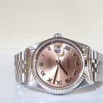 Rolex Datejust 36mm salmon dial - paper and box - year 2000