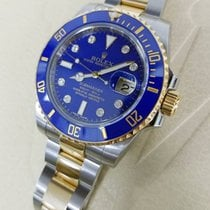 Rolex Submariner Steel & 18K Yellow Gold Blue Diamond Dial...
