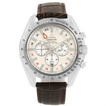Omega Speedmaster Broad Arrow Gmt Mens Watch 3881.30.37