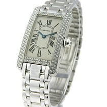 Cartier tawgdmdnbrace Tank Americain - White Gold Small Size -...