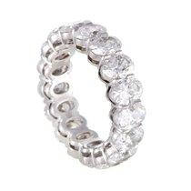 Harry Winston Womens Platinum Diamond Eternity Band Ring