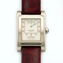 Cartier Tank A Vis Privee Jump Hour 18K Solid White Gold