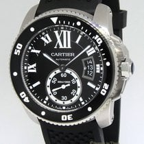 Cartier Calibre Stainless Steel Mens Diver's Watch Box/Papers...