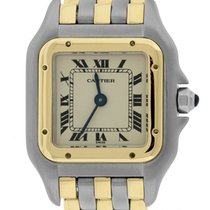 Cartier Panthere 18K Two Tone Gold Steel Ivory 22mm Quartz Watch