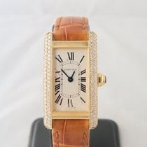 Cartier Tank Americaine 18k Rose Gold Aftermarket Diamond...