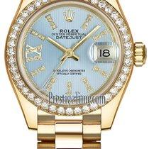 Rolex Lady Datejust 28mm Yellow Gold 279138RBR Cornflower Blue...