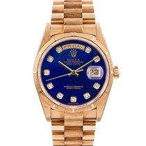 Rolex day date bark band original lapis seri diamond dial...