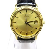 Omega Solid 18k. Yellow Gold Quartz Movement Gents Watch with...