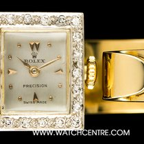 Rolex 18k Y/G Silver Dial Diamond Bezel Drivers Bangle Vintage...