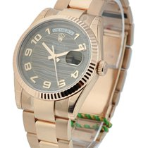 Rolex Unworn 118235_choco_ara_wave Rose Gold Mens Day - Date...