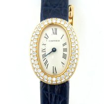 Cartier Ladies Cartier Mini Baignoire W/ Diamond Bezel In 18k...