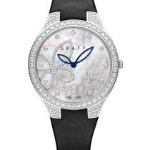 Graff Butterfly Silhouette White Gold & Diamonds Ladies Watch