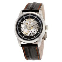 Hamilton Men's Railroad Black Skeleton Dial Watch