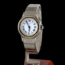 Cartier Santos Octagon Steel and Gold Automatic Lady