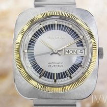 Bulova N1 Stainless Steel Swiss Made Automatic Watch 1970s Scx248