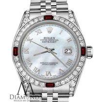 Rolex Women's Rolex 36mm Datejust White Mop Roman Numeral...