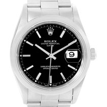 Rolex Date Silver Dial Domed Bezel Steel Automatic Mens Watch...