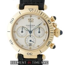 Cartier Pasha Collection Pasha Chronograph 18k Yellow Gold...