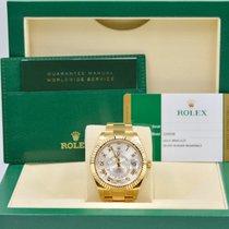 Rolex Sky-Dweller Yellow Gold Silver Roman Dial