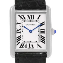 Cartier Tank Solo Large Steel Silver Dial Quartz Watch W1018355