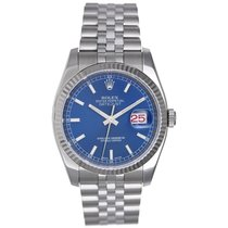 Rolex Datejust Men's Stainless Steel Watch 116234 Blue Dial