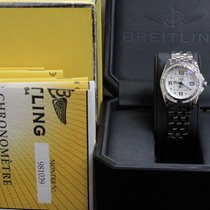 Breitling Ladies A71356 Galactic 32 Steel Diamond Bezel...