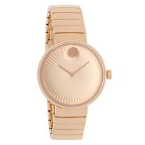 Movado Edge Series Ladies Rose Gold Tone Swiss Quartz Watch...