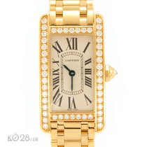 Cartier NEW -45% Cartier Tank Americaine WB7072K2 Quartz Gold...