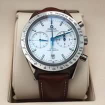 Omega Speedmaster 57 Chronograph Titanium White Dial Brown...